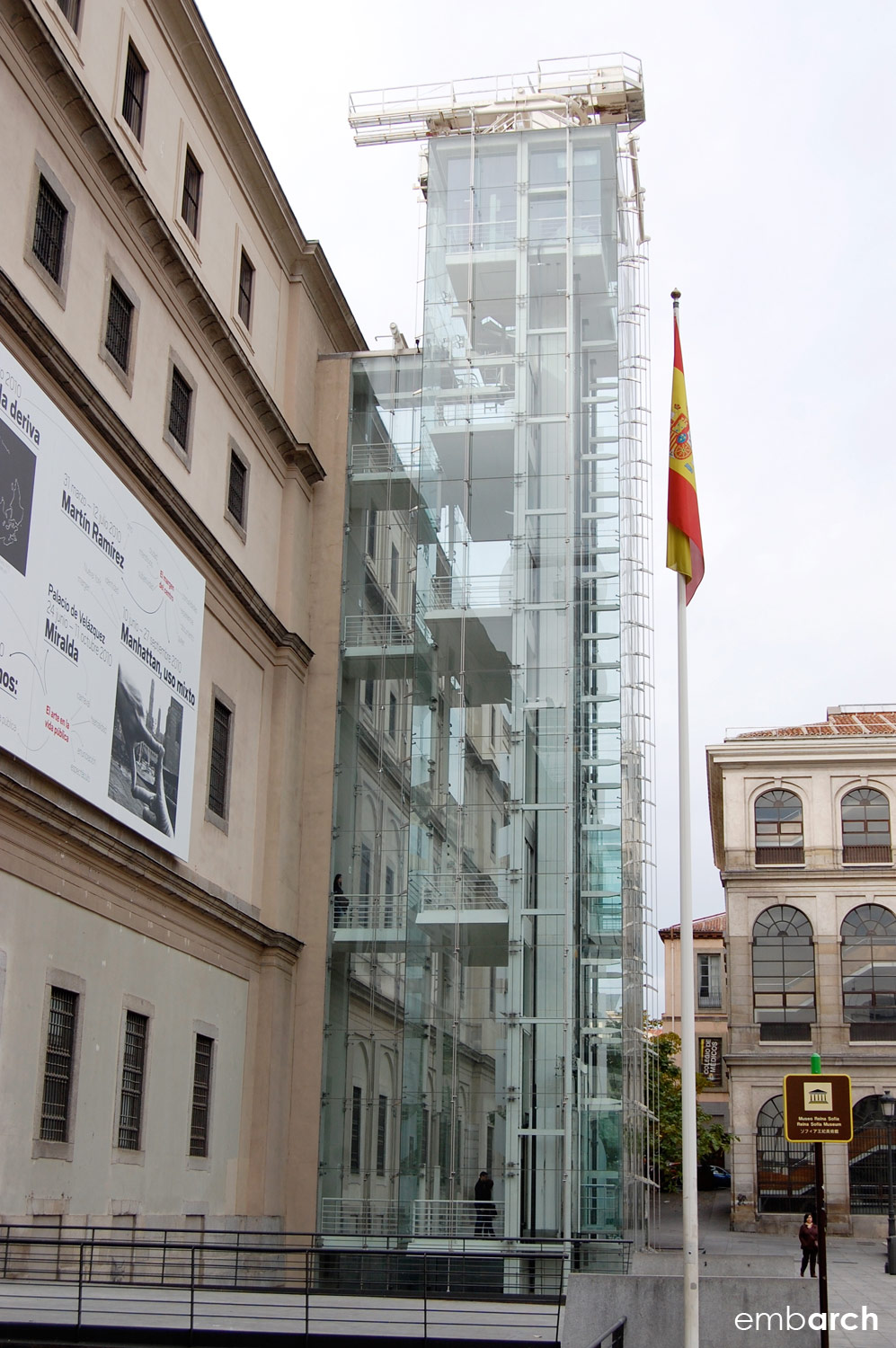 Museo Reina Sofia - circulation tower