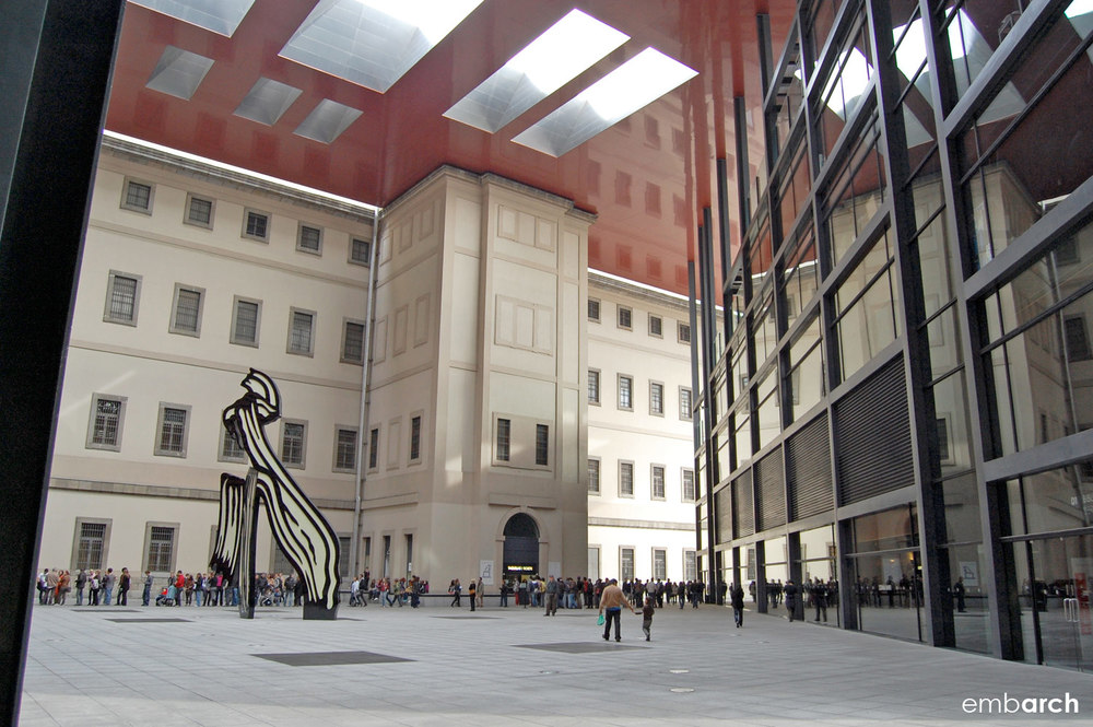 Museo Reina Sofia - view of courtyard