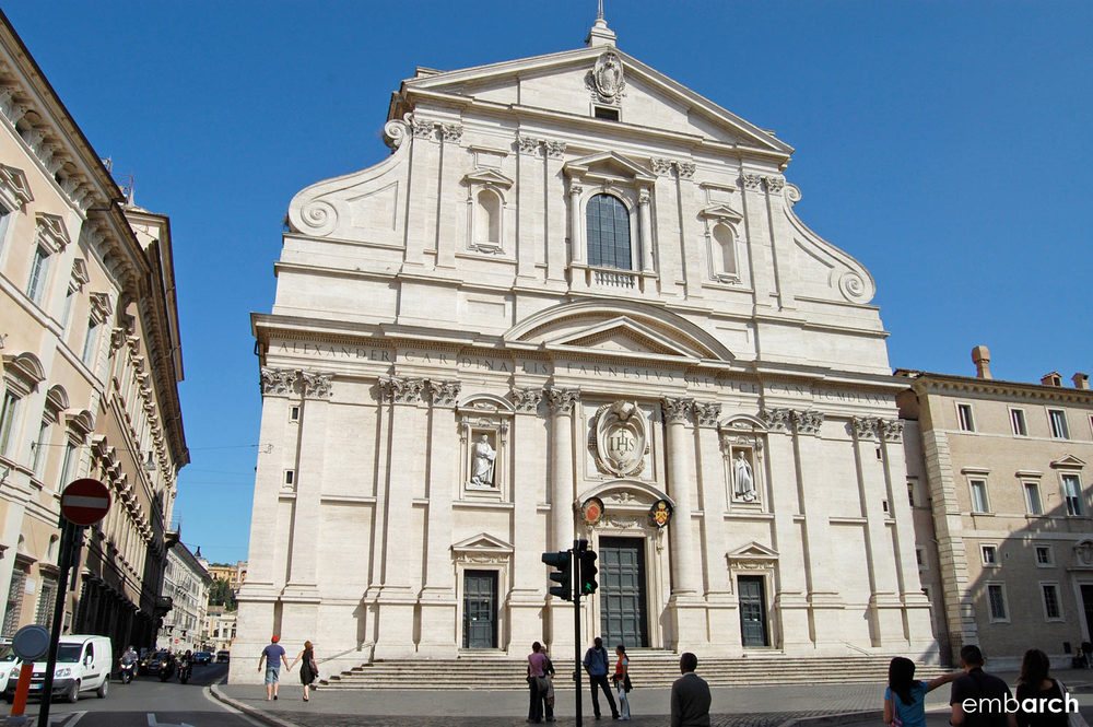 Church of the Gesù - view of exterior