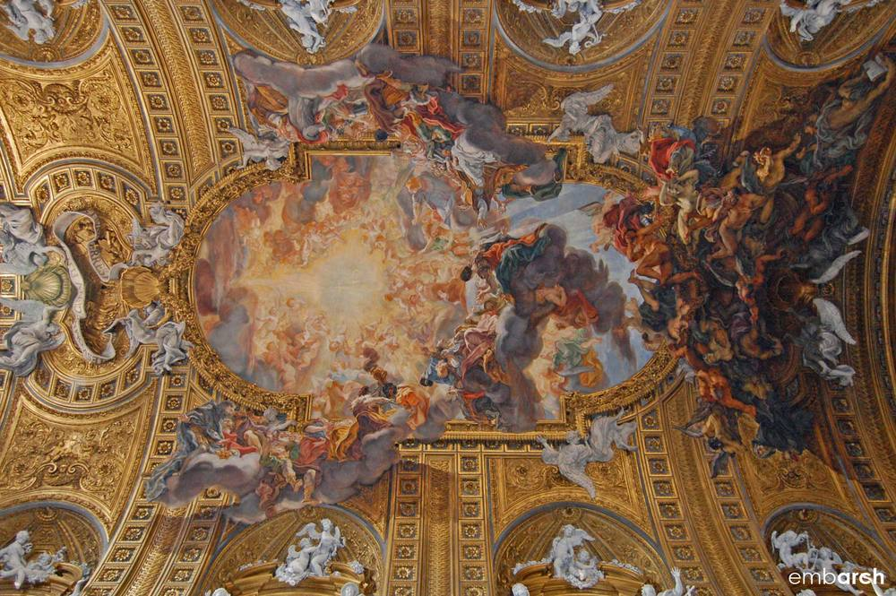 Church of the Gesù - detail of ceiling