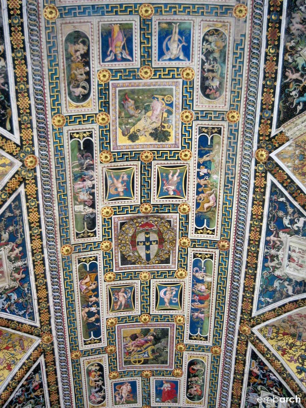 Siena Cathedral - interior view of the ceiling