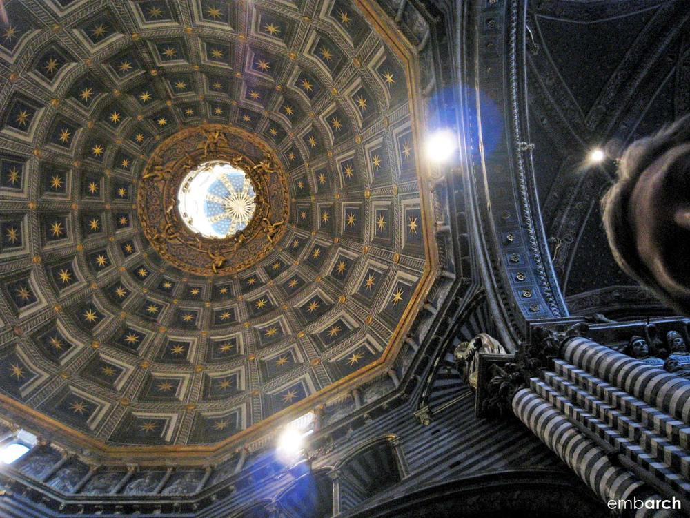 Siena Cathedral - interior view of the dome