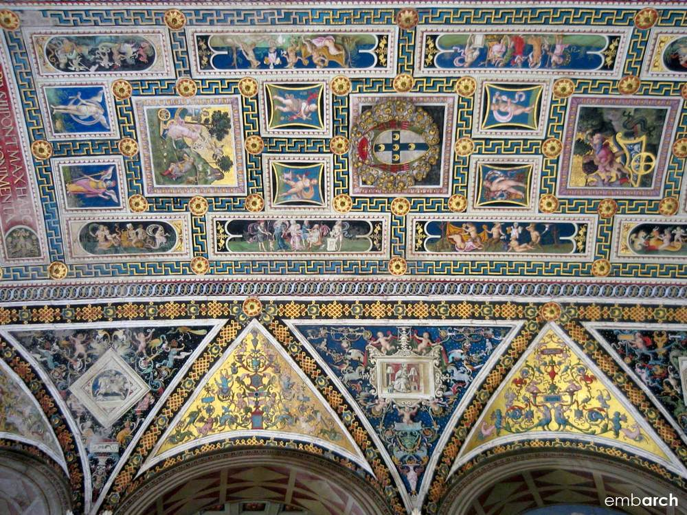Siena Cathedral - interior ceiling detail