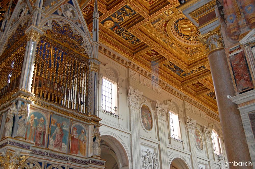 Papal Archasilica of St. John Lateran - interior detail
