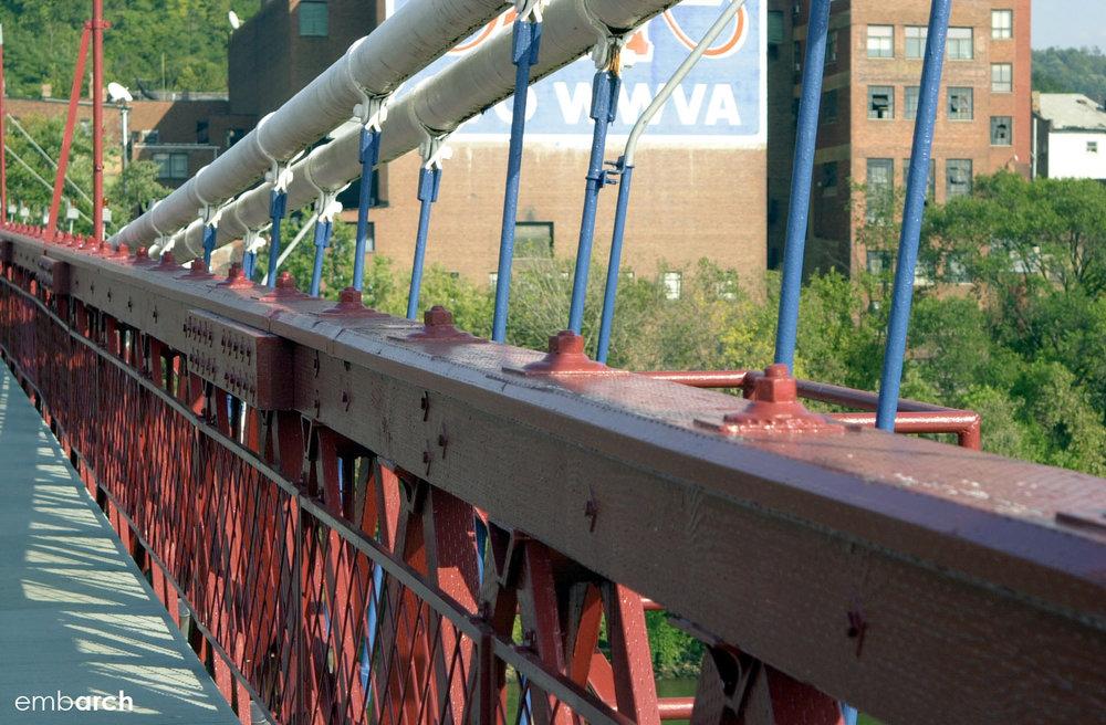 Wheeling Bridge - detail