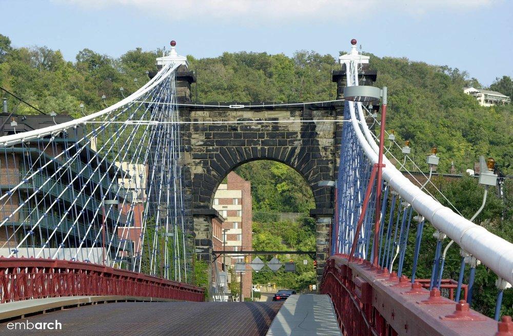 Wheeling Bridge - street view