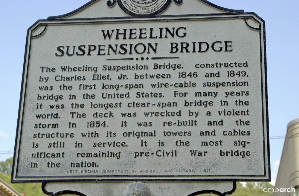 Wheeling Bridge - historical marker