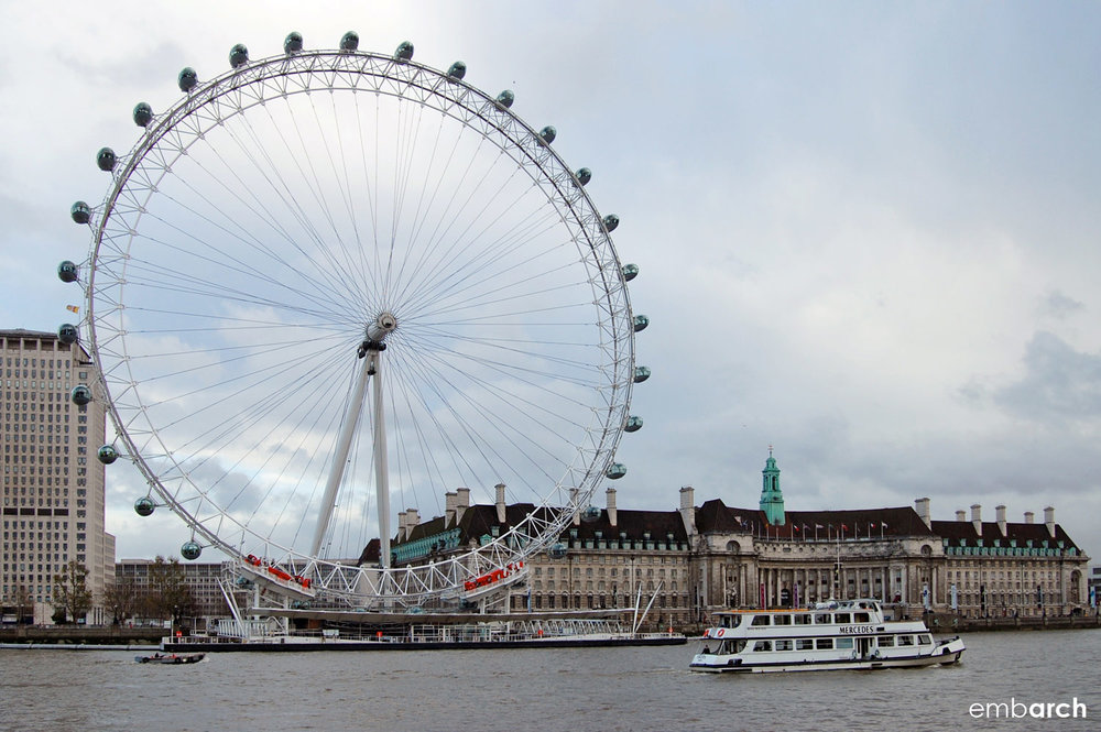 London Eye - River view