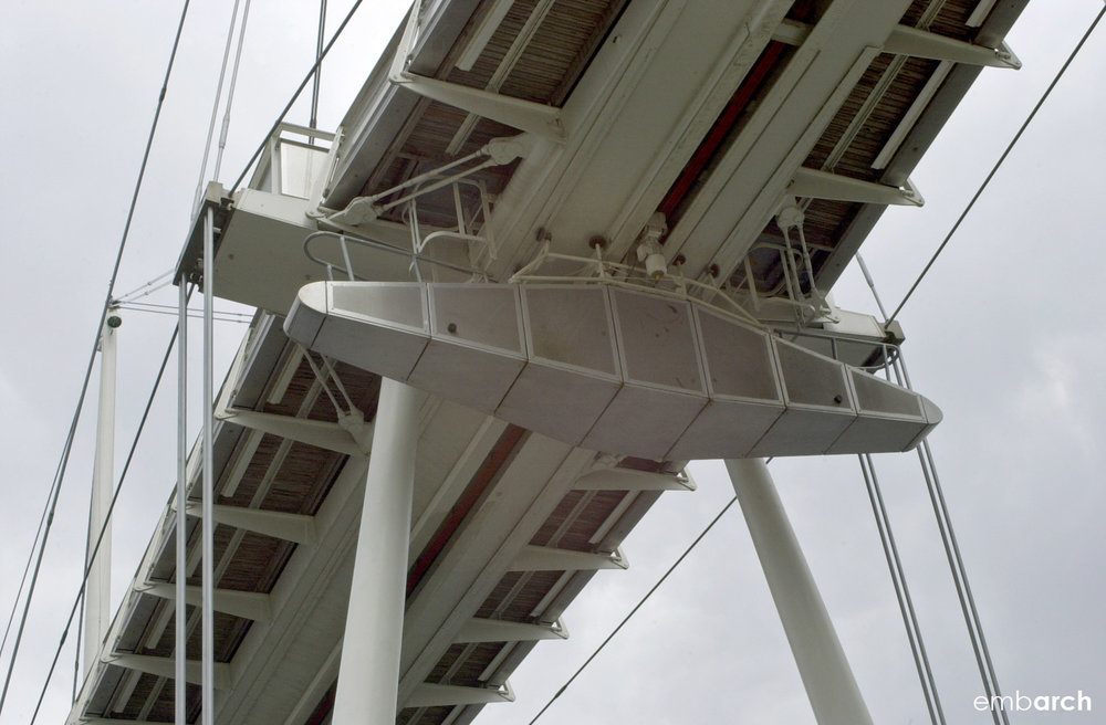 Royal Dock Bridge - exterior detail