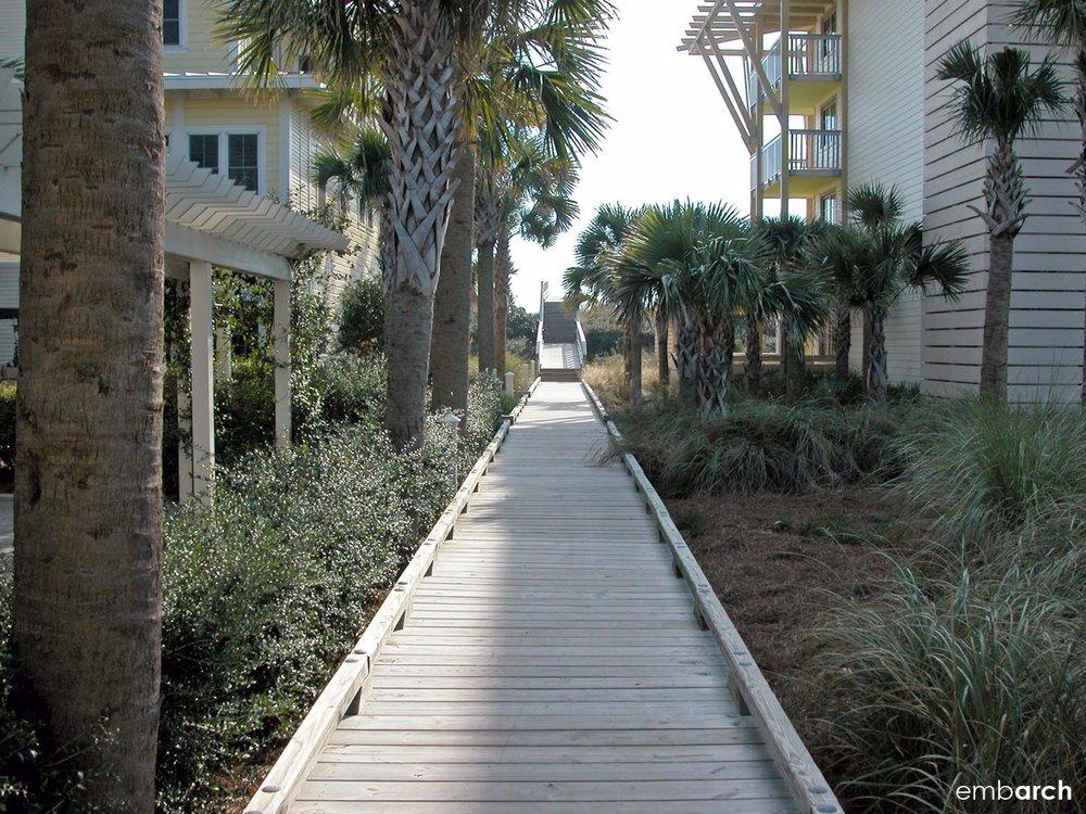 View of boardwalk in Watercolor