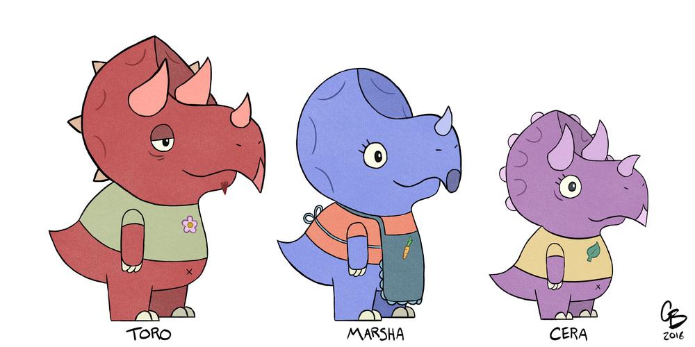 Toro, Marsha, & Cera