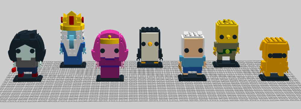 Marceline, Princess Bubblegum, Finn, & Jake