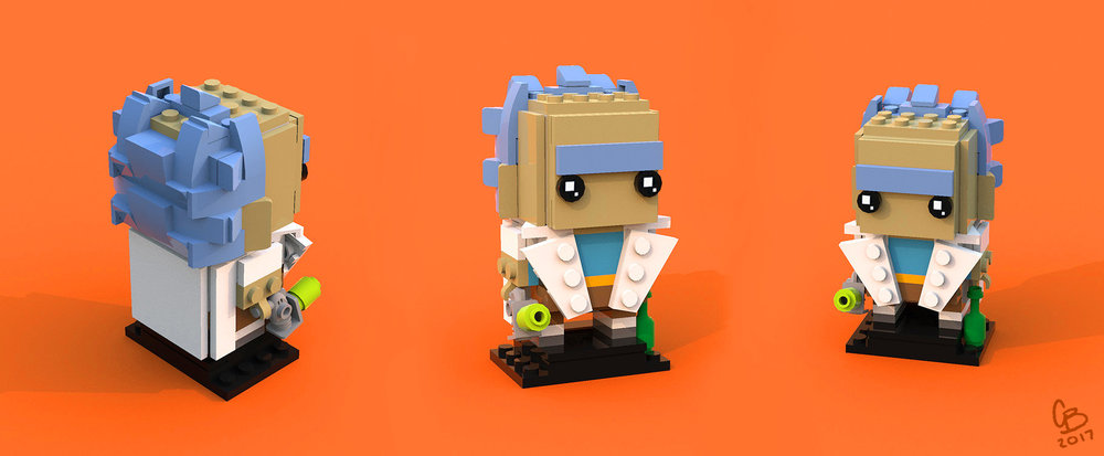 Renders of Brickheadz Rick
