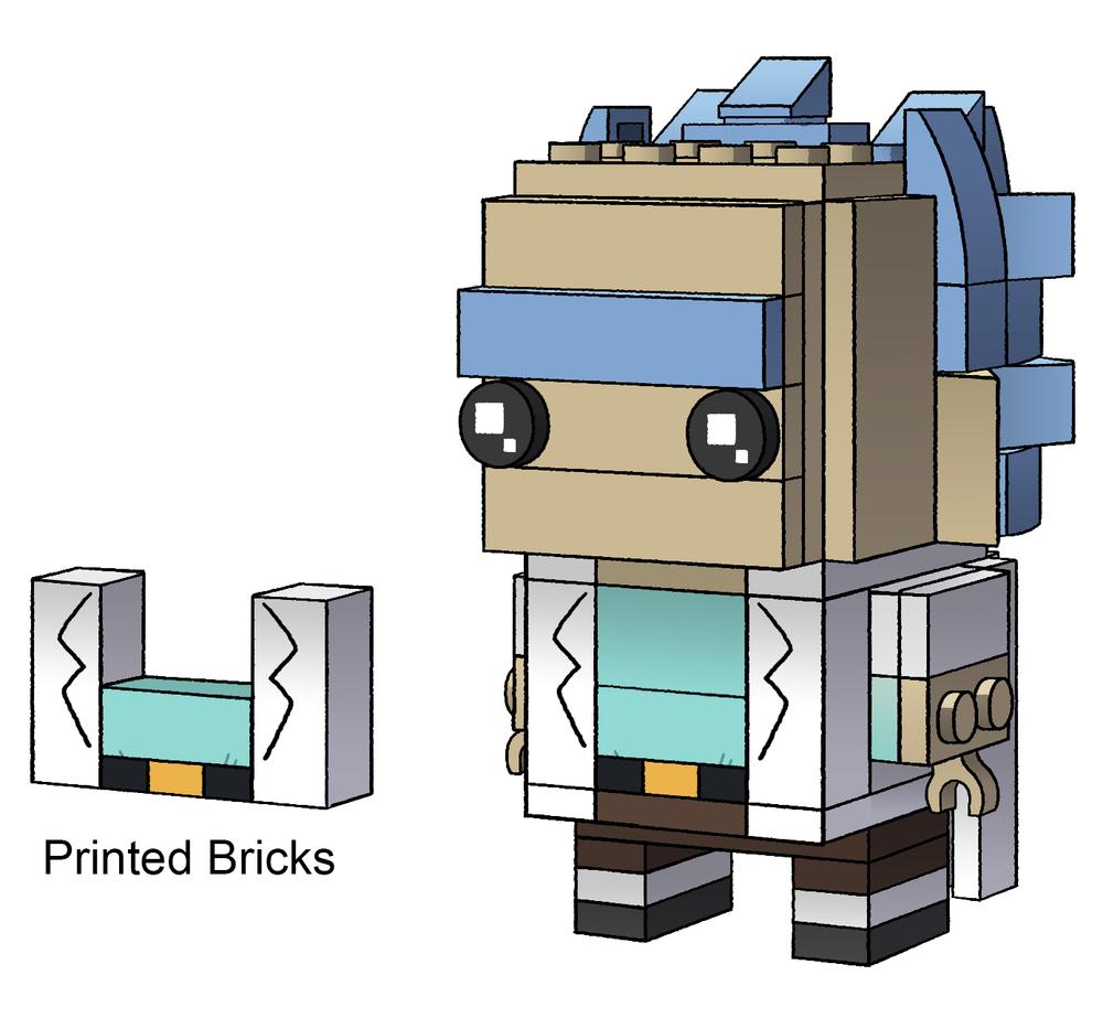 Updated Rick Brickheadz