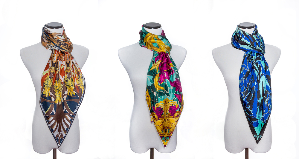 vasi moda silk scarf collection italian silk twill original prints