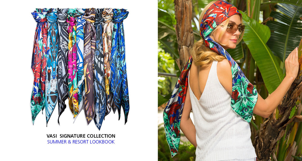 vasi moda silk scarf resort summer style