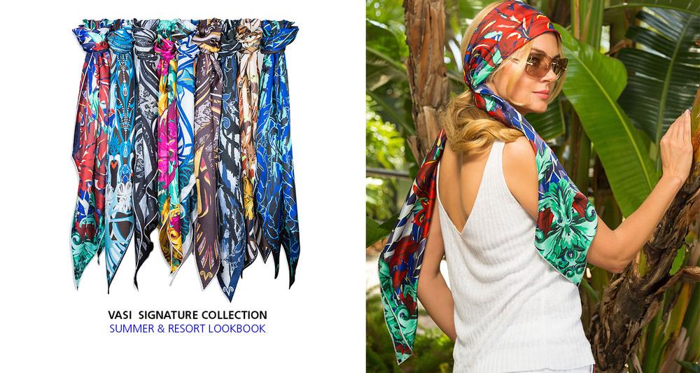 vasi moda silk scarf resort summer style