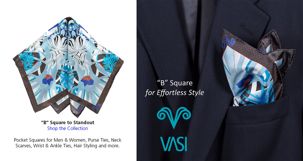 B Square for Men pocket square