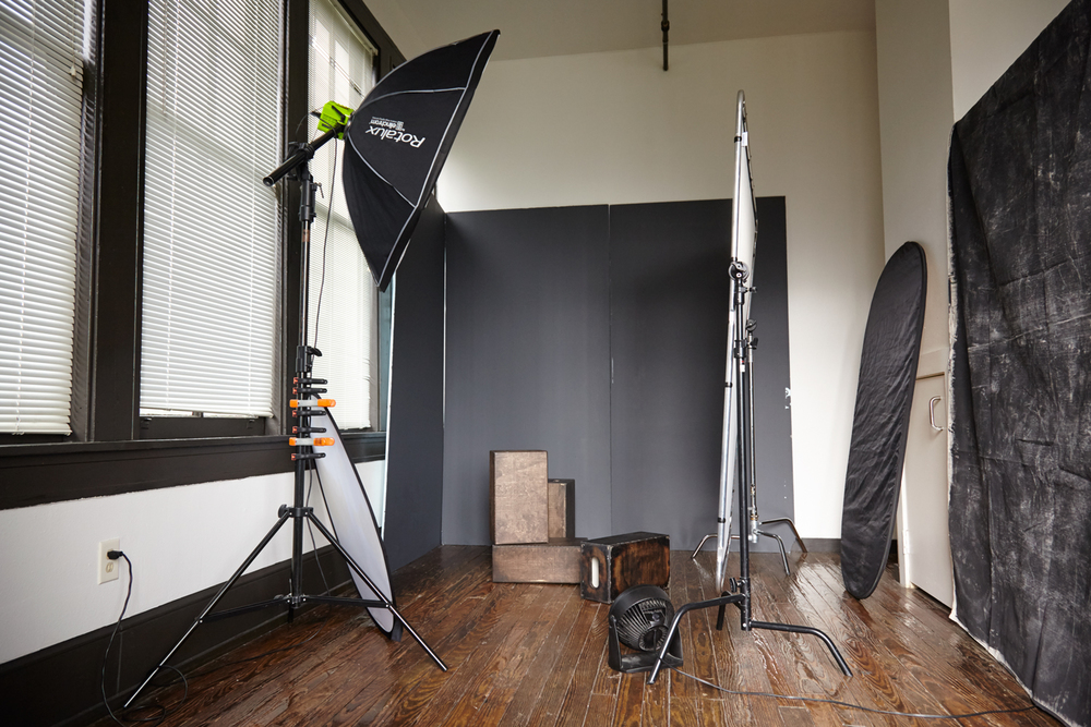 Michael Populus Photography behind the scenes setup