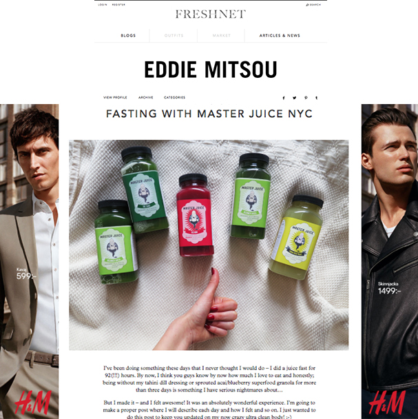 Food Blogger Eddie Mitsou is an MJ Cleanser!