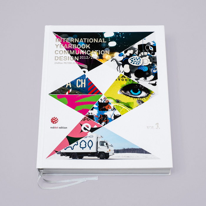 red dot award International Yearbook book with geometric shapes on it