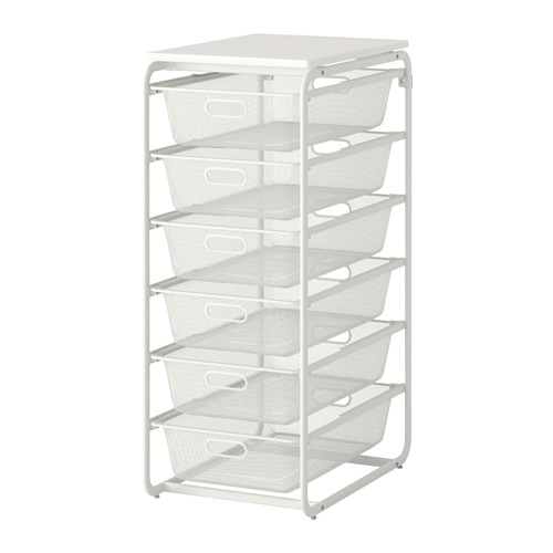 This drawer system comes with many more combinations - Find it at Ikea  here