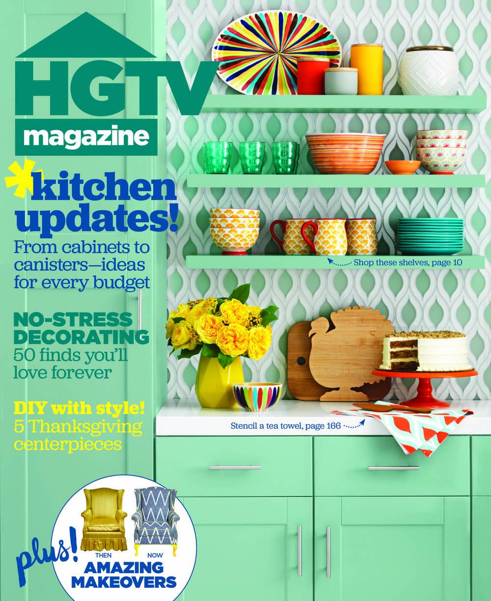 HGTV Magazine. November 2015.