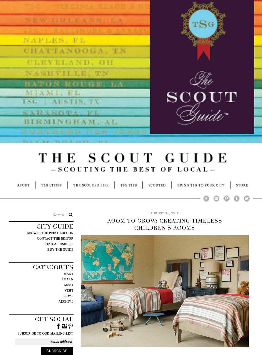 ROOM TO GROW. THE SCOUT GUIDE 2017