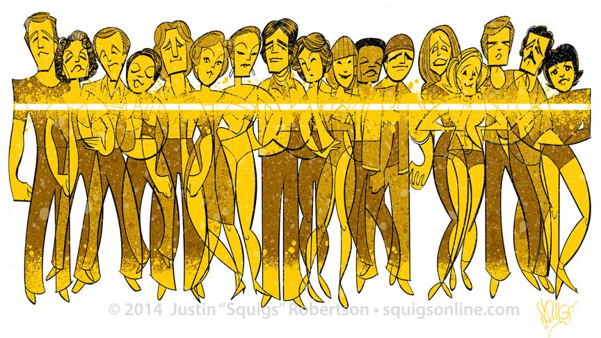 The original Broadway cast of   A Chorus Line  .