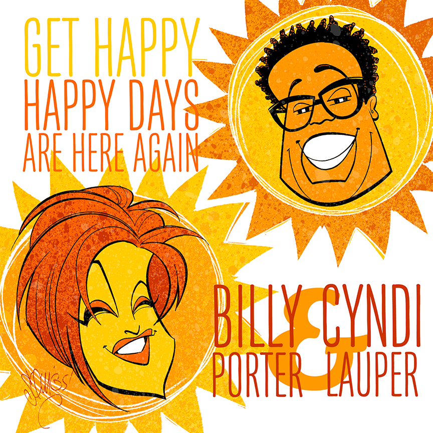 Billy and Cyndi getting happy.