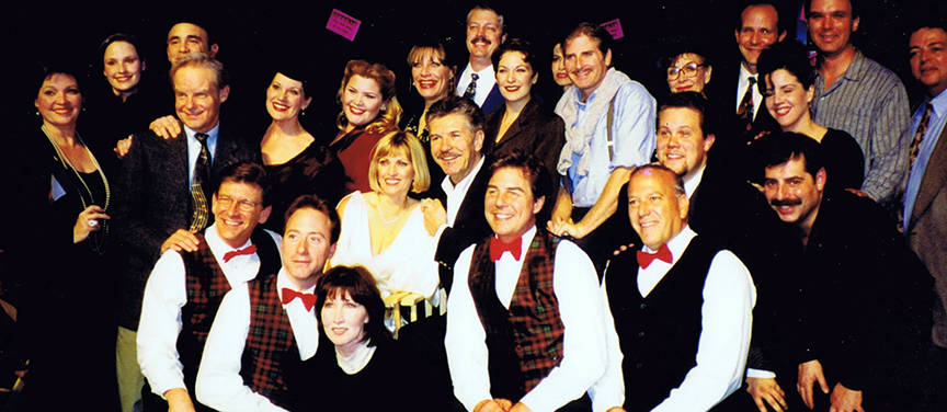 The cast and creatives of Musical Theatre Guild's 1998 production of   On the 20th Century   starring Lorna Patterson, Ed Evanko, Eileen Barnett, Gordon Goodman, Jimmy Gleason, and Bob Amaral.