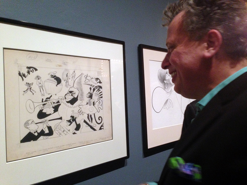 Billy Stritch and the Hirschfeld from his collection.