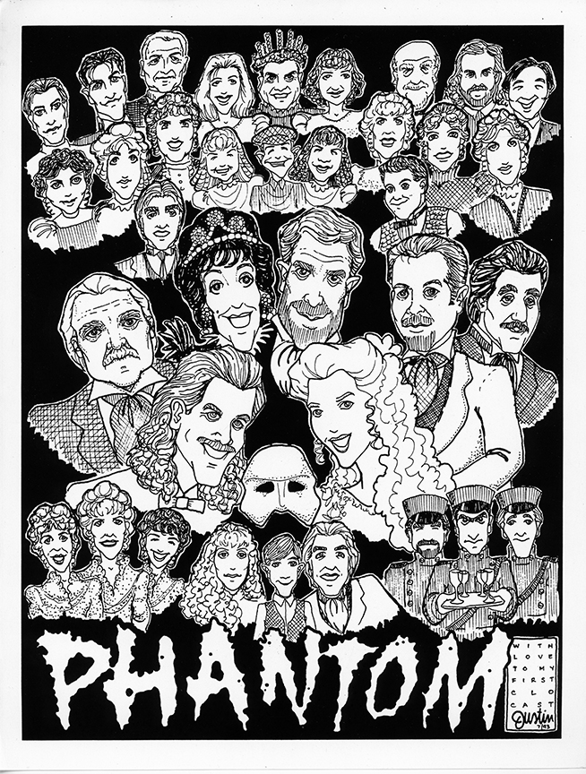 Phantom   (1993), Whittier/La Mirada Musical Theatre Association, starring Stephen Zinnato, Stacy Sullivan, Jack Ritschel, Sandy Rosenberg, Paul Ainsley, Jamie Anderson.