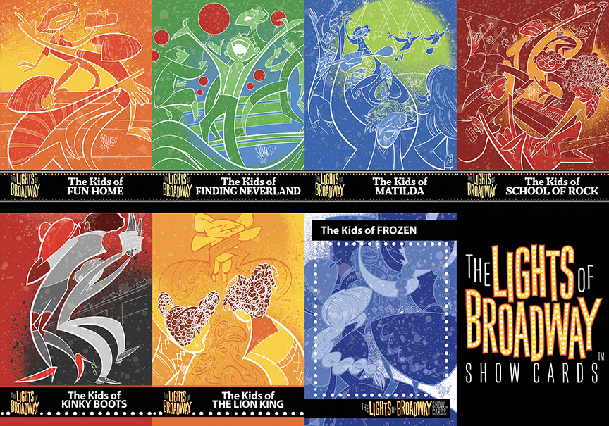 "Various Lights of Broadway ""Kids of…"" cards."