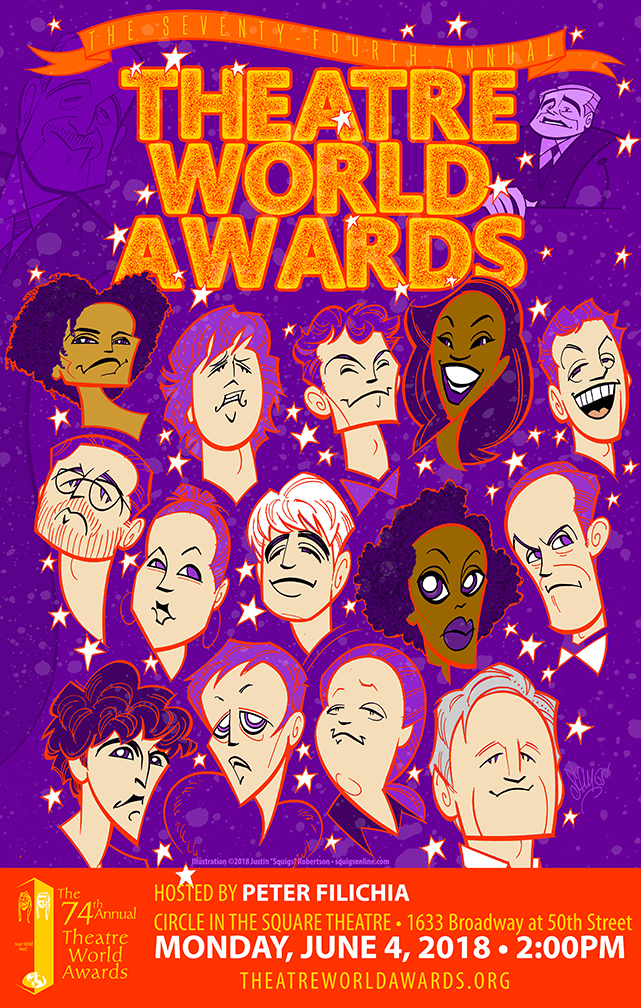 The Theatre World Awards poster, 2018