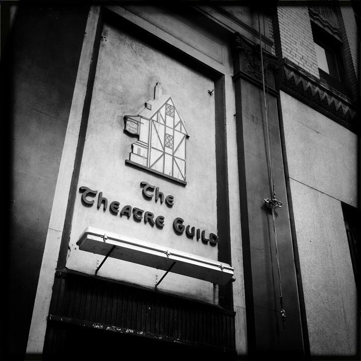 The Theatre Guild logo on 47th Street, NYC.