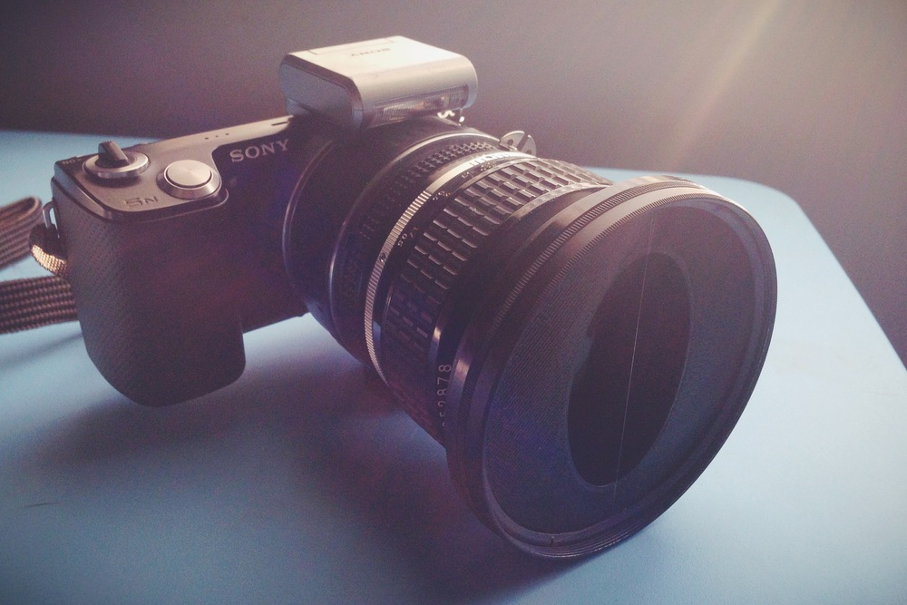 Vintage Filter on the Nikon 50mm f1.2 and Sony 5N.