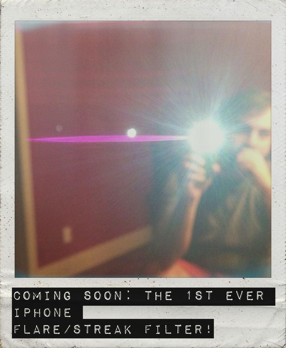 iPhone pic using the VSCO and Polamatic apps along with the Vid-Atlantic Fuchsia Flare/Streak Filter.