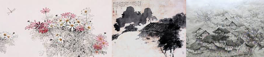 Key Frame Style References: ink-and-wash painting