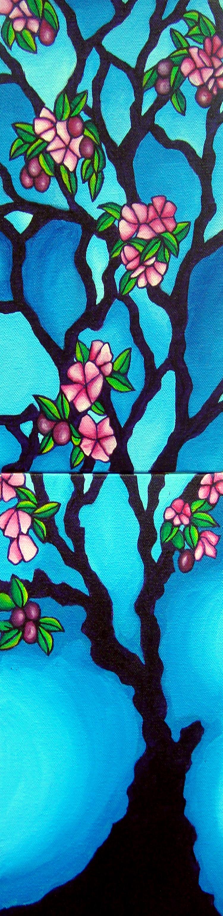 Plum Tree, 2 panels