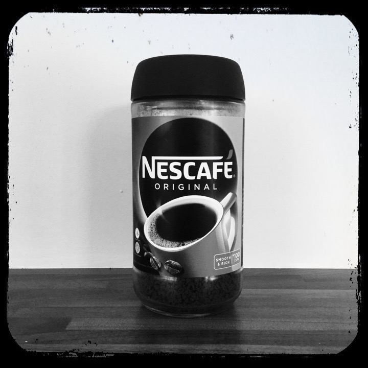 Purchased from my local newsagent for an ingredient of Cafenol film developing, The Nescafé Original blend must be consumed by millions the world over each and every day. But not by me anymore.
