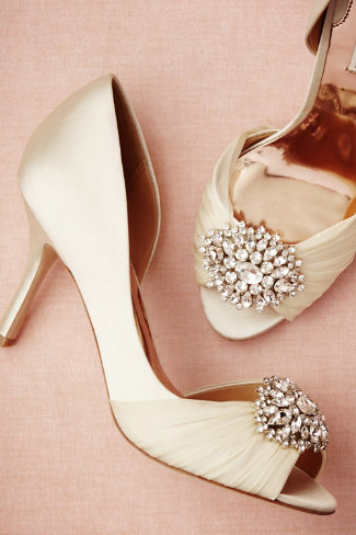 Badgley Mischka Joyau d'Orsay heels available at BHLDN