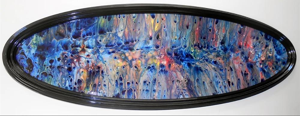 """Sea Urchin"", Acrylic on Wood, 62 cm x 160 cm, December 2012, $2500"