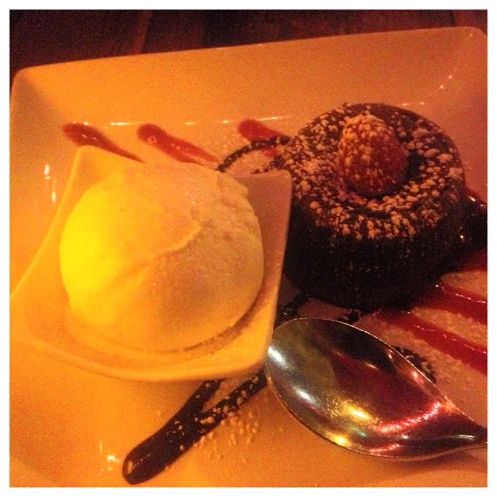 Lava Cake is Best Served Warm and With Vanilla Ice Cream