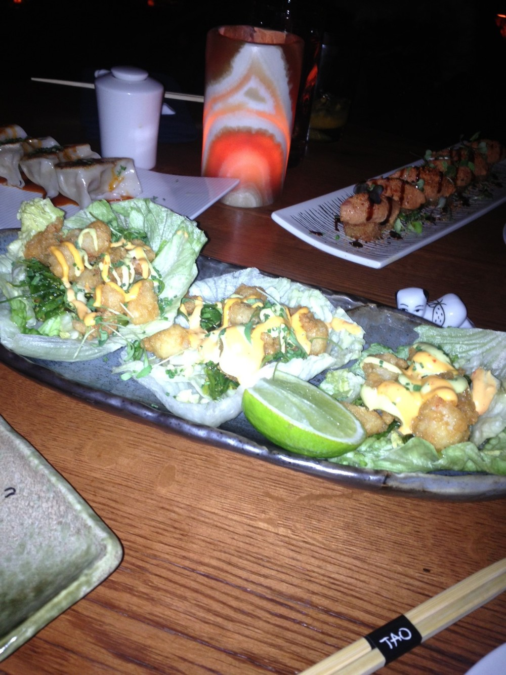 Rock Shrimp Lettuce Cups