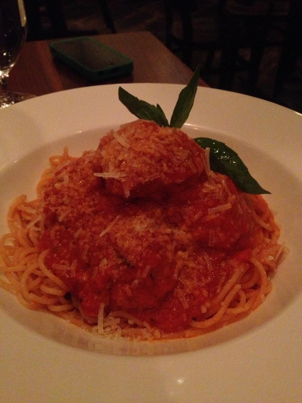 Veal Ricotta Meatballs & Capellini