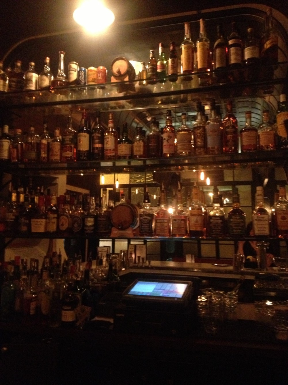 Do you see the barrel-aged drinks on the back bar? That is a quality signal right there.