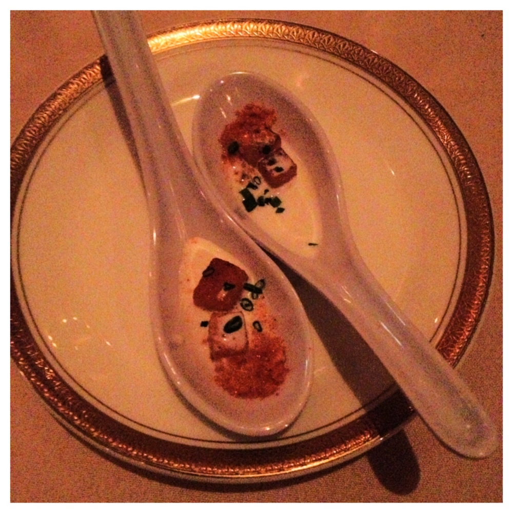 Amuse-Bouche of Butternut Squash from the Chef