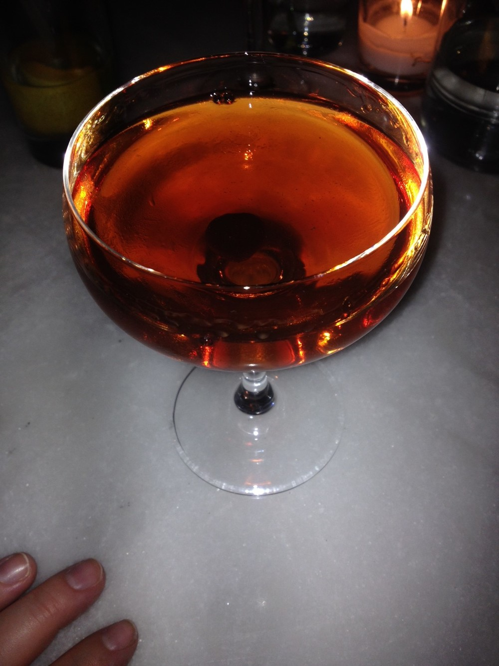 Bulleit Manhattan - don't you just love the brandied cherry? Swank city!