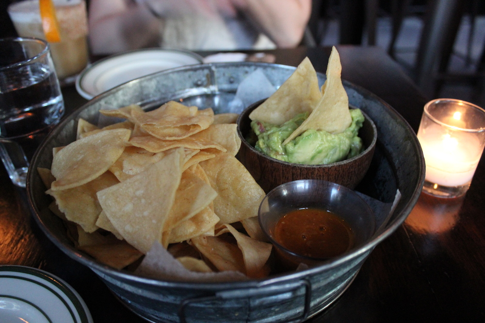 Ample portion of guacamole and chips - plus some salsas!
